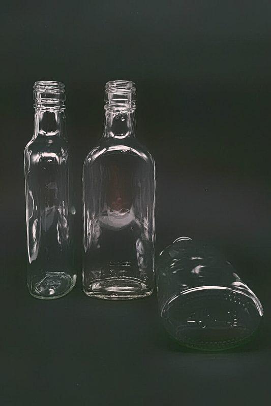 Водочная бутылка КПМ-30-250-Финка в прозрачном стекле