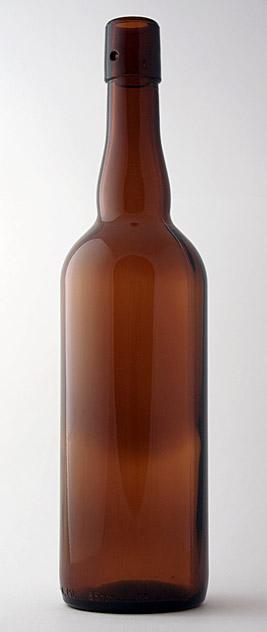 Пивная бутылка БП-1-750-НФ в коричневом стекле