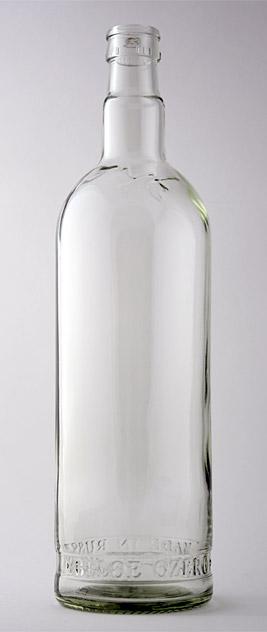 Водочная бутылка КПМ-30-1000-БОЗ в прозрачном стекле