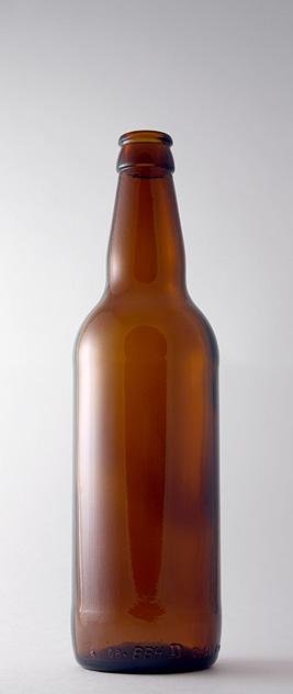 Пивная бутылка КПН-1-500-DEB в коричневом стекле