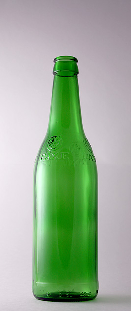 Пивная бутылка КПН-1-500-FAXE в зелёном стекле