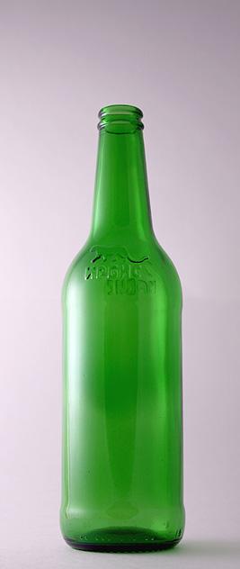 Пивная бутылка КПН-1-500-Ирбис в зелёном стекле