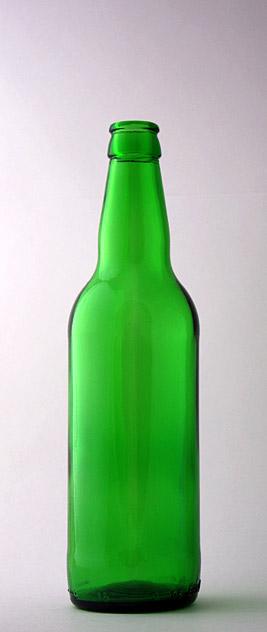 Пивная бутылка КПН-2-500-«Bаршава» в зелёном стекле