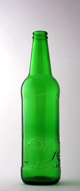 Пивная бутылка КПН-500-Ирбис в зелёном стекле