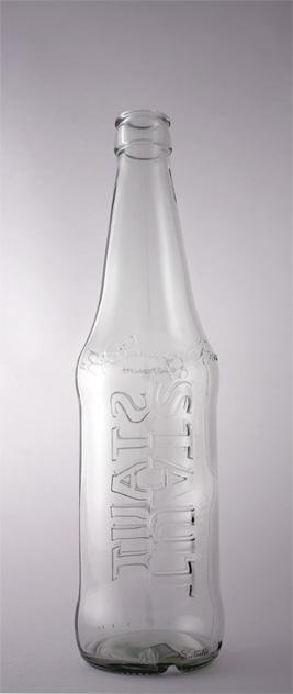 Пивная бутылка КПН-Т-400-St в прозрачном стекле