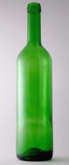Бутылка для вина П-29-А-750-Бордо в зелёном стекле