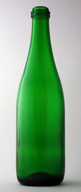 Бутылка для вина Ш-750-6 в зелёном стекле