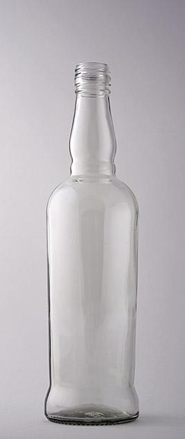 Водочная бутылка В-28-2-500-БЯ в прозрачном стекле