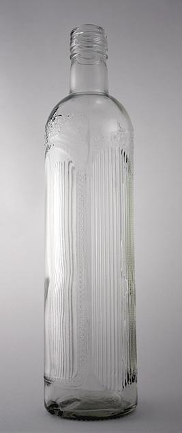 Водочная бутылка В-28-2-500-Хортица в прозрачном стекле