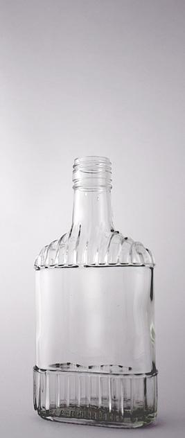 Водочная бутылка В-28-2(2)-250-Ф в прозрачном стекле