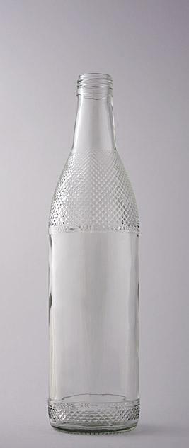 Водочная бутылка В-28-2(3)-500-КТ в прозрачном стекле
