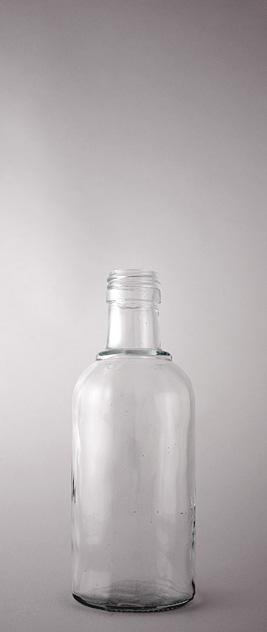 Водочная бутылка В-28-250-КЛВЗ в прозрачном стекле