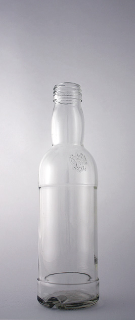 Водочная бутылка В-28-250-Кристалл в прозрачном стекле