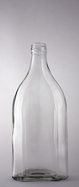 Водочная бутылка В-28-500-ФЛ в прозрачном стекле