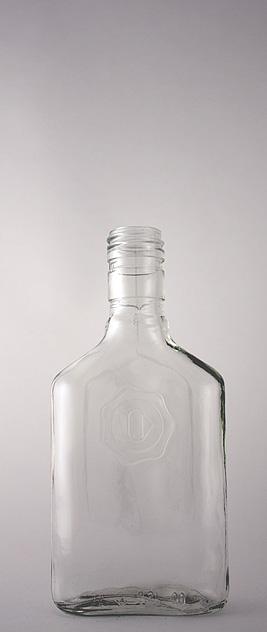 Водочная бутылка В-31-250-Дербент в прозрачном стекле