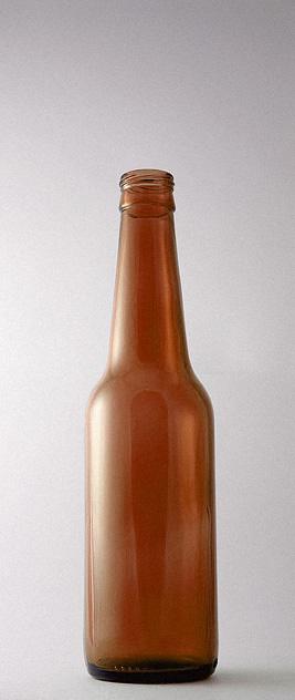 Пивная бутылка ВКП-330-SOL в коричневом стекле