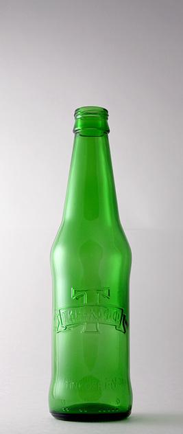 Пивная бутылка ВКП-2-330-Тинькофф в зелёном стекле
