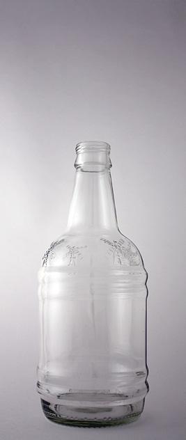 Пивная бутылка ВКП-2-500-ЭСМ в прозрачном стекле