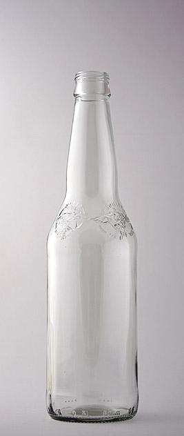 Пивная бутылка ВКП-2-500-МиллерПВ-2 в прозрачном стекле