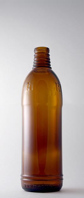 Пивная бутылка ВКП-2-500-НМ в коричневом стекле
