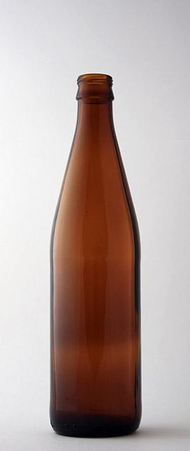 Пивная бутылка ВКП-2-500-NRW в коричневом стекле