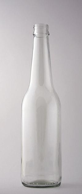 Пивная бутылка ВКП-2-500-SIL в прозрачном стекле