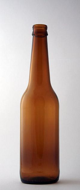 Пивная бутылка ВКП-2-500-SIL в коричневом стекле
