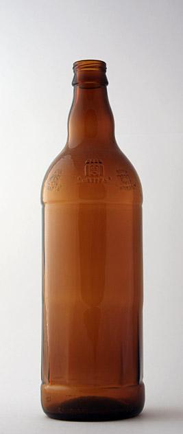Пивная бутылка ВКП-2-750-ЗоБо в коричневом стекле