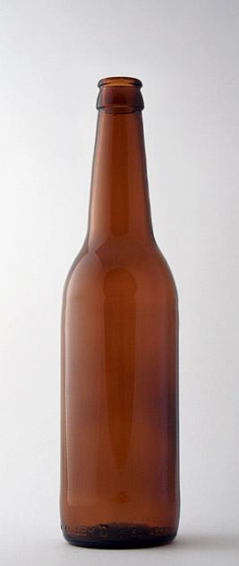 Пивная бутылка КПН-3-500-ЛонгНек в коричневом стекле