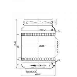 Банка III-23-670-Б 004 в прозрачном стекле