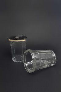 Стакан под жестяную крышку СП-ВС-1-100-Стакан-AL в прозрачном стекле