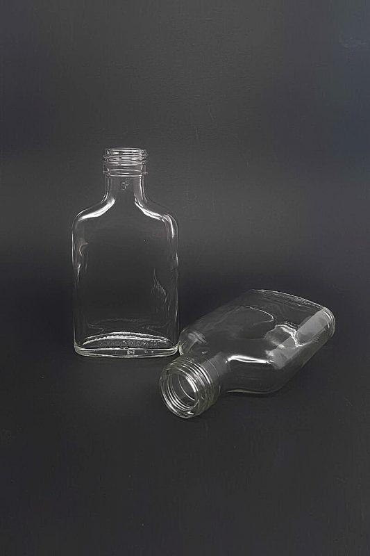 Водочная бутылка В-28-100-ФК в прозрачном стекле